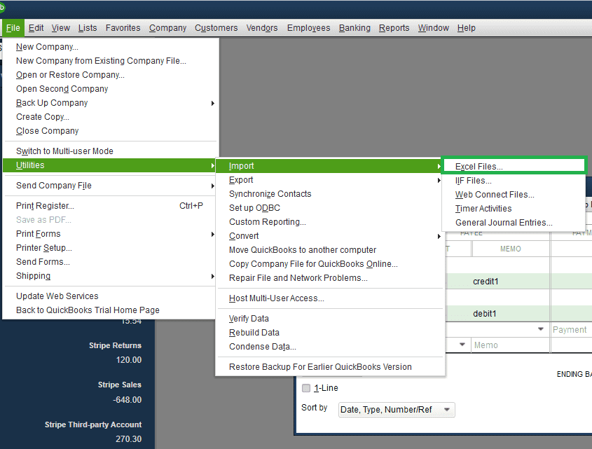 Import or Export QuickBooks Data